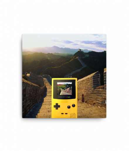 Nintendo Gameboy Color Great Wall of China Selfie Canvas Print
